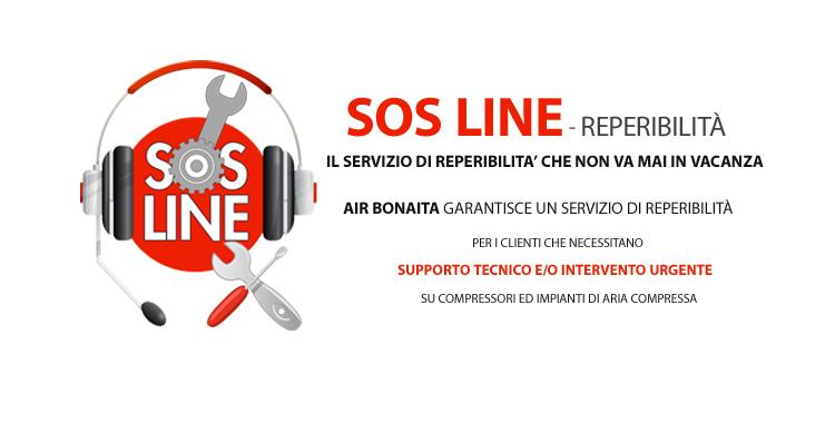 SOS LINE il servizio di reperibilità che non va mai in vacanza